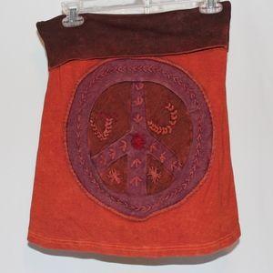 Jayli Peace Patchwork Skirt size small